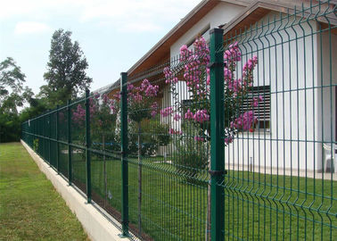 China 1530MM NYLOFOR 3D wire mesh fence panels RAL 6005 PVC Coated ,and double leaies gates made in china factory
