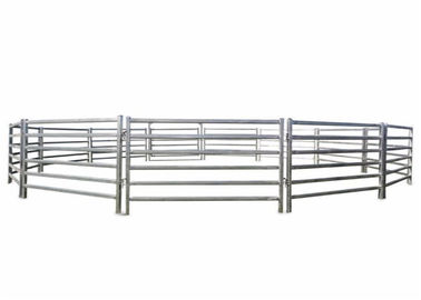 Hot Dipped Galvanized Pipe Full Welded Silver Painted  AS/NZS standard 1.8mx2.1m width Livestock Panels​