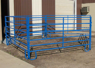 China 1.8m x 2.1m, 1.6 x 2.1m, 1.8m x 2.4m 42mm hot dipped galvanized cattle farm gate fence / used corral panels factory