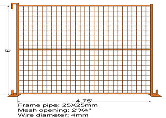"China 6FT X 4.75FT ""Quebec French Land"" TEMPORARY FENCE Mesh3""x6' Diameter 4.00mm Zinc Coated And Power Coated Dupont factory"