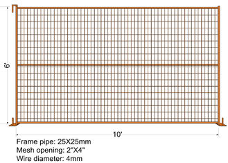 "China ""VICORIA SECRET"" TEMPORARY FENCE H6'/1830mmxL10'/3050mm mesh Aperture 2""x4""/50x100mm factory"