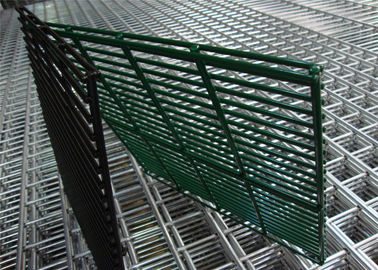 (manufacturer) Powder Coated Twin Wire Welded Mesh /Double Wire Mesh Fence Panels