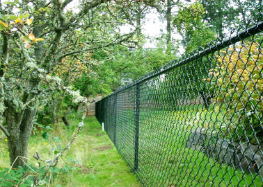 Green PVC Coated Garden Fence, pvc coated diamond wire mesh, Green PVC Coated Chain Link Fencing,Diamond Mesh Fence