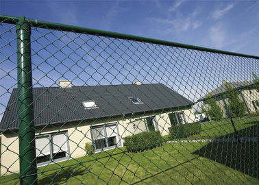 60mm x 60mm chain link fencing system PVC Coated Black and Green