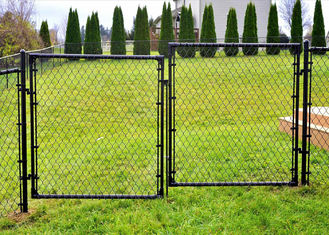 Q235 Steel Chain Wire Fence With Hot Dipped Glavanized , Powder Coated
