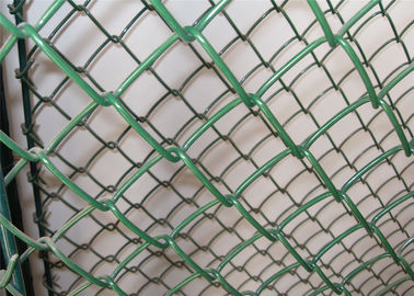 China Professional Chain Link Fence cyclone wire fence roll 1.22m x 25m standard roll color green factory