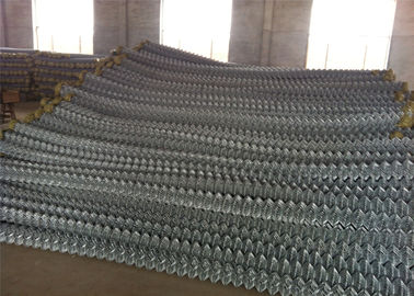China Aluminized Spiral Chain Link Perimeter Fencing System Top Ended with Barbed Wire factory