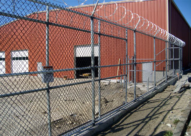 High Security PVC Coated Galvanized Chain Link Fence