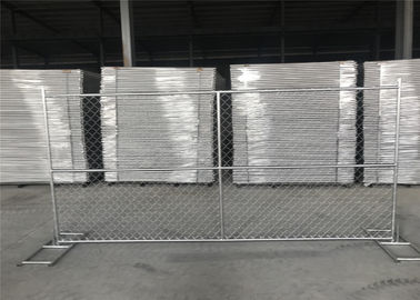 China HDG1.2 oz/ft Temporary Chain Link Fence Height 4' 6' 8' Height 9' 9.5' 10' 12' Width Chain  Mesh 57mm x 57mm x 2.7mm dia factory
