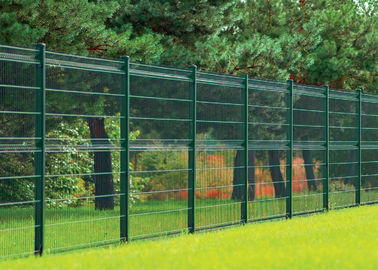 China PVC Coated Wire Mesh Fence Panels, 1230mm ,1530mm , 1830mm, 2030mm,2230mm with Curved /V beams Anti Climb Mesh Fence Pan factory
