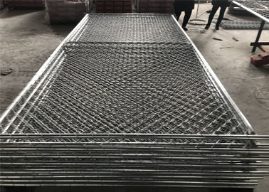 China Construction Security Chain Link Temporary Fence 6'x12' and 6'x10' tubing 41.20mm factory