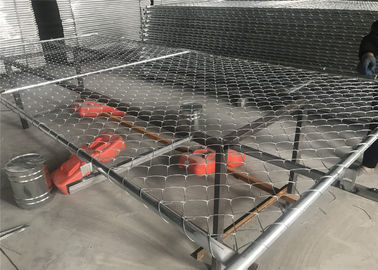 "Chain mesh 2½""x2½"" (63mmx63mm) x 11.5ga wire construction fence 8ft x 12ft  Outer tubing 1⅝""(42mm) x 16ga thick"