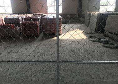 China 6'x9.5' Mesh Opening 60mm x 60mm x 2.5mm chain mesh Tube 1.625inch/41.20mm temporary chain link fence factory