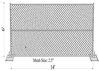 "China 1⅜""(35mm) tube chain link fence panels 6'x14' chain mesh opening 2⅜""x2⅜""(60mmx60mm)  diameter 3.00mm factory"