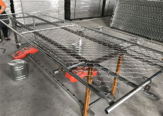 "6'x10' temporary chain link fence panels 1½""(38mm) wall thick 15ga/1.80mm mesh opening 2¼""x2¼""(57mmx57mm)"
