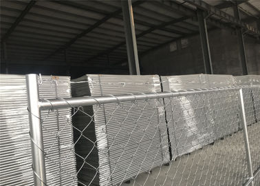 "China 8'x14' chain link fence panels 1⅜""(35mm) and 16gague wall thickness cross brace hot dipped galvanized be 2.0 oz/ft2 factory"
