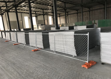 "China Temporary Chain Link Fence Panels  6'Height X 14' Width  35mm wall thickness 1.5mm Mesh 2.5"" x 2.5"" diameter 11.5ga factory"