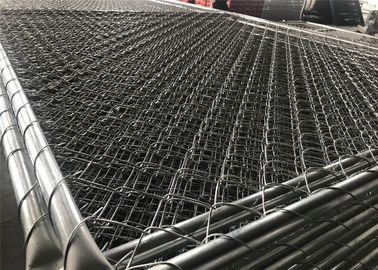 "China Hot dipped Galvanized 366gram/SQM Chain Link Fence Panels 6'x12' Tube 1.4""/35mm tube mesh 2.5""x2.5"" 11ga wire factory"