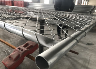 "Chain Link Fence Panels Hot dipped To Be 366gram/sqm tube 32mm wall thickness 15ga and chain mesh 2"" x 2"" x12ga diameter"