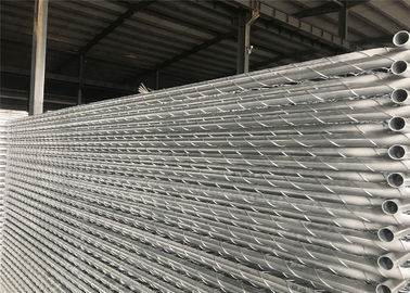 "China 8'x12' temporary chain link fence panels diameter wire 11.5ga chain link mesh 2"" x 2"" tube 35mm wall thick 1.60mm factory"