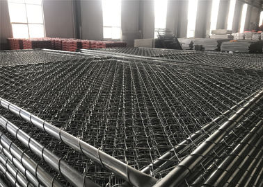 China 6'/1830mm'x10'/3048mm chain link fence pnaels tube 41.2mm wall thick 2.00mm mesh 60mm x 60mm diameter 2.7mm factory