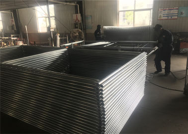 "China 6'x12'  Chain Link Fence Panels 1⅝""(41.2mm) Cross Brace Tube Chain Mesh 2-1⁄8""x2-1/8""/54mmx54mm Diameter 11gauge wire factory"