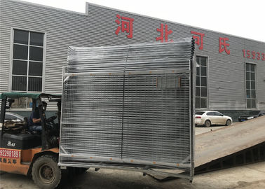 2100mm x 2500mm temporary fencing panels for melbourne market OD40mm x 2.00mm mesh 60mm x 150mm