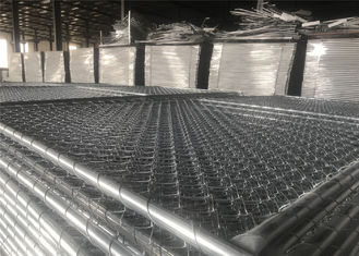 China Hot Dipped Galvanized Construction Fencing Panels 1830mm x 3650mm/6'x12' Outer tube 41.2mm HDG 100gram/sqm factory