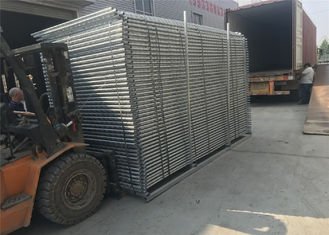 China Portable Construction Fencing Panels 6'x12'  Mesh 63mmx63mm diameter 2.9mm hot dipped galvanized 42 microns at all welds factory