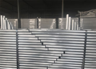 China Temporary Construction Fence Panels 6'x10' height horizontal brace mesh 50mm x 50mm x 2.5mm diameter factory