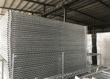 China Temporary Security Construction Fencing Panels 1.83mx3.65m Mesh 57mmx57mm Diameter3.2mm/10Ga factory