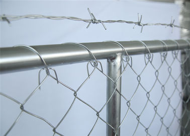 "China 6ftx10ft temporary construction security fence panels mesh spacing 2¼""x2¼""(57mmx57mm) 2⅜""x2⅜""(60mmx60mm) 2½""x2½""(63mmx63 factory"
