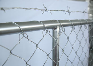 China chain mesh temporary construction fence 8ft x 12ft  mesh 2-3/8 inch mesh opening x 11.5 gauge wire factory