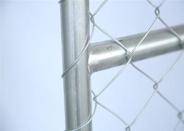 8'x10' OD42mm Construction Fence Panels Chain Link Mesh Fencing Panels 2430mm x 2950mm Mesh 63mm x 63mm Diameter 2.7mm