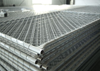 China Chain Mesh Construction Wire Fence Panels OD 33.2mm wall thick 1.5mm Mesh 60mmx60mm Diameter 2.7mm factory