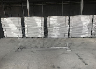 "Construction Fencing 6'H X 10'W Temporary Fence Panel, 11-1/2 ga. Chain Link, No Bracing 50 lbs Mesh 2.5"" Mesh aperture"