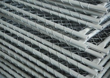 China Construction Chain Link Fencing Panels OD 32mm*1.6mm 6'x12' 25mm Outer Tube Mesh aperture factory