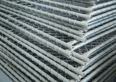 Construction Chain Link Fencing Panels OD 32mm*1.6mm 6'x12' 25mm Outer Tube Mesh aperture