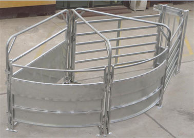 Horse and Sheep Yard Panels for Sale 1.8m x 2.1m 6 Horizontal Rails Oval tube 115x42mm
