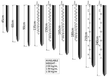 China 1.86kg Y Steel Fence Post for Australia Market Black Coated factory