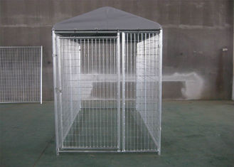 China Powder Coated Weld Wire Dog Fence With Roof 1.8M HEIGHT x 2.5M WIDTH X 2.5 WIDTH 50mmx100mm Pr-galvanized Tube factory