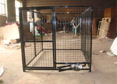 China 5' W X 10' D X 6' H Weld Wire Dog Kennel Mesh 50mmx100mm diameter 4.00mm factory