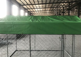 China 6ft x 13ft x 7.5ft temporary dog kennel fence ,chain mesh DIY dog kenne ,OD  32 mm dog kennel factory