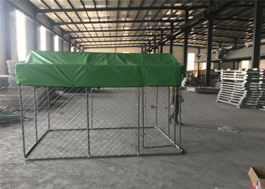 China Chain Link Dog Fence /Dog Kennel DIY powder coated hot dipped galvanized mesh 50mmx50mm x 2.70mm factory