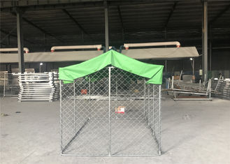 China Large outdoor galvanized cheap chain link dog kennel 7.5x13x6ft(2.3x4x1.8m) 2.3mm wire diameter factory