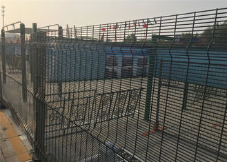 China HDG High-security density mesh security fencing Panels 2400mm x 2515mm wire diameter 4.00mm factory