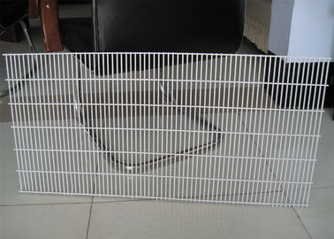 China 358 wire fence panels 2.2m height x 2.5m mesh aperture 76.2mm x 12.70mm 2d fence panels 3.00mm diameter factory