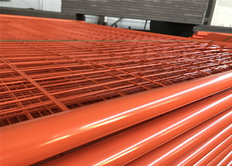 China High visibility Orange Color Temporary Fencing Panels 2.1mx2.5m super panels OD 32mm and 40mm tube factory