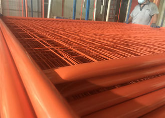 China 2100mm*3300mm temporary construction fencing panels OD 32mm x 2.0mm Mesh 60mm x 150mm diameter 3.50mm factory