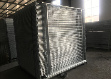 China OD 40mm wall thick temporary fencing panels 2100mm*2400mm Mesh 60mm*150mm Diameter4.00mm factory